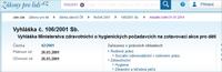 Vyhláška Ministerstva zdravotnictví o hygienických požadavcích na zotavovací akce pro děti
